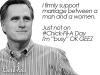 Romney on chick fil a day